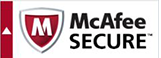 This website is SSL secured by McAfee.
